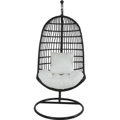 Skye Birds Nest Swing Chair with Stand Fabric: Eggshell