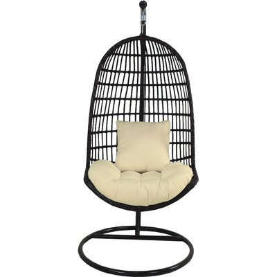 Skye Birds Nest Swing Chair with Stand Fabric: Mushroom