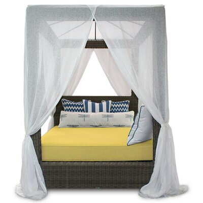Palisades Canopy Daybed Fabric: Sunbrella Canvas Buttercup