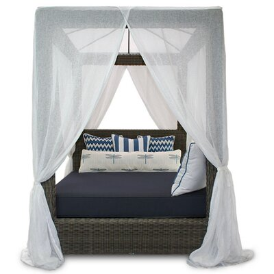 Palisades Canopy Daybed Fabric: Sunbrella Canvas Navy