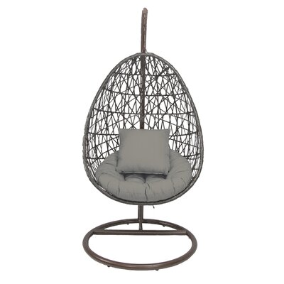 Skye Birds Nest Swing Chair with Stand Fabric: Dove