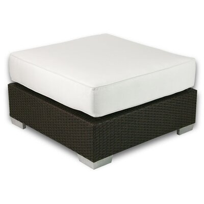 Signature Ottoman with Cushion Fabric: Eggshell