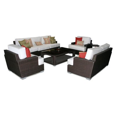Patio Heaven Signature Deep Seating Group with Cushions - Cushions Color: Grenadine at Sears.com