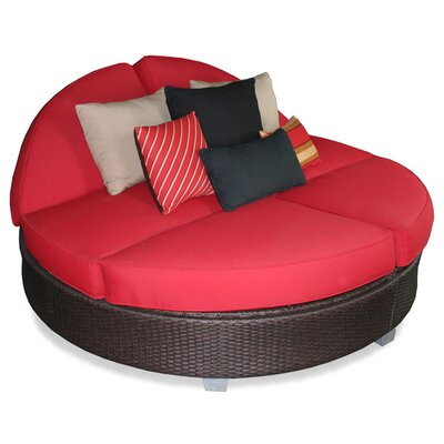 Signature Round Double Chaise Lounge Fabric Color: Jockey Red