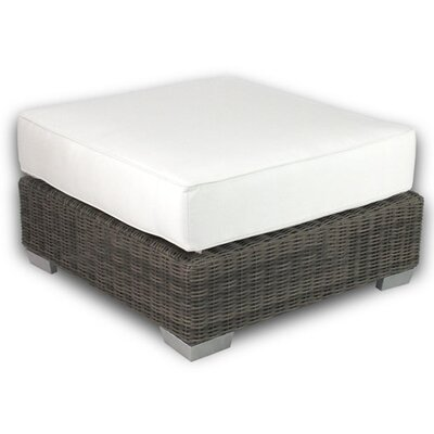 Palisades Ottoman with Cushion Fabric: Eggshell