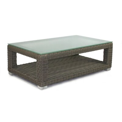 Patio Heaven Palisades Coffee Table with Tempered Glass Top at Sears.com