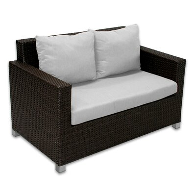 Skye Venice Loveseat with Cushions Fabric: Dove