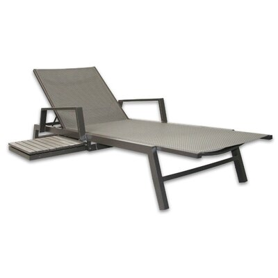 Riviera Chaise Lounge Color: Gray