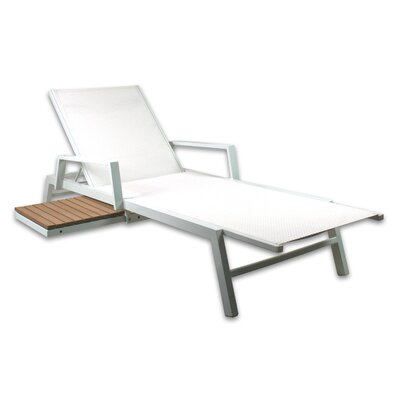 Marina Chaise Lounge Color: White