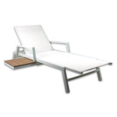 Riviera Chaise Lounge Color: White