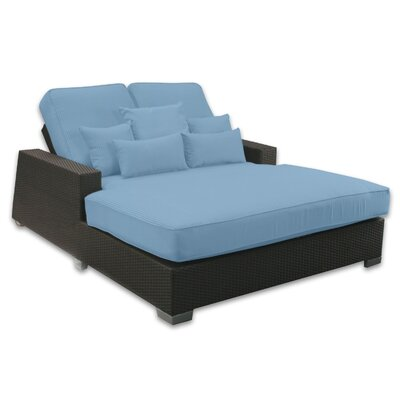 Signature Double Chaise Lounge with Cushion Fabric Color: Sailor