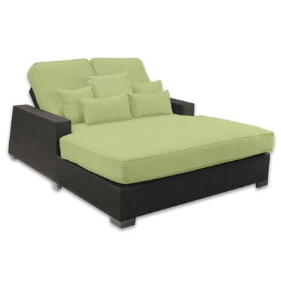 Signature Double Chaise Lounge with Cushion Fabric Color: Kiwi