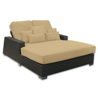 Signature Double Chaise Lounge with Cushion Fabric Color: Dijon