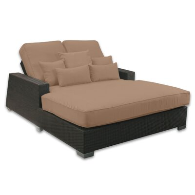 Signature Double Chaise Lounge with Cushion Fabric Color: Sierra