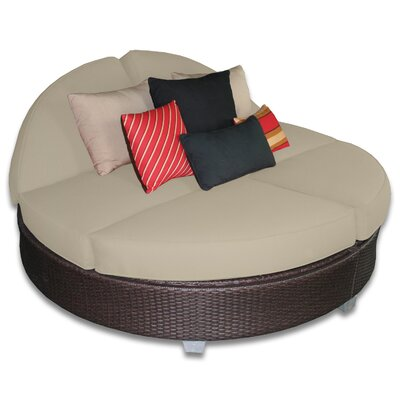 Signature Round Double Chaise Lounge Fabric Color: Sand