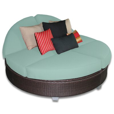 Signature Round Double Chaise Lounge Fabric Color: Mist