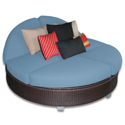 Signature Round Double Chaise Lounge Fabric Color: Sailor