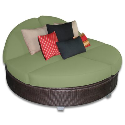 Signature Round Double Chaise Lounge Fabric Color: Cilantro
