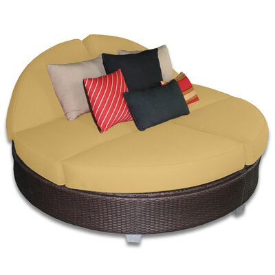 Signature Round Double Chaise Lounge Fabric Color: Daffodil