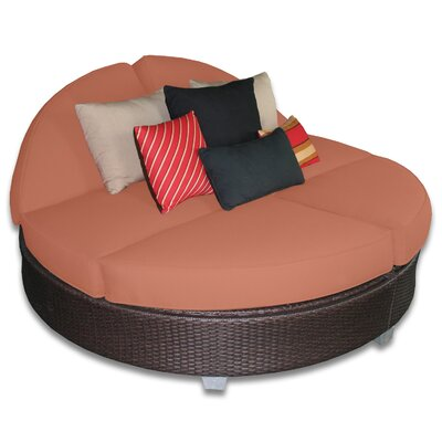 Signature Round Double Chaise Lounge Fabric Color: Cayenne