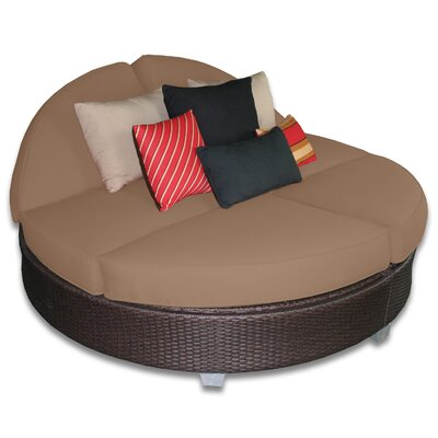Signature Round Double Chaise Lounge Fabric Color: Sierra