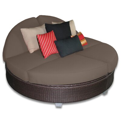 Signature Round Double Chaise Lounge Fabric Color: Coffee