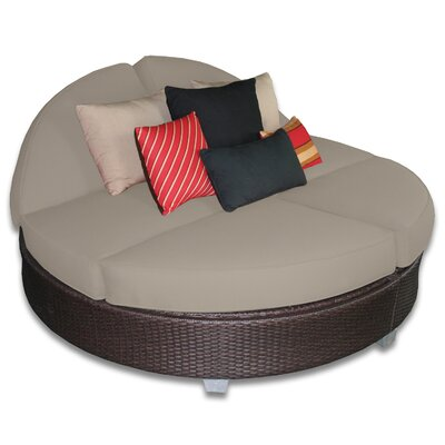 Signature Round Double Chaise Lounge Fabric Color: Mushroom