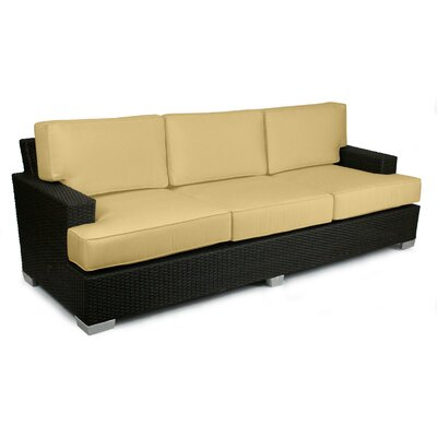 Signature Sofa with Cushions Fabric: Daffodil