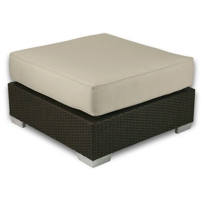 Signature Ottoman with Cushion Fabric: Sand