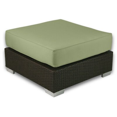 Signature Ottoman with Cushion Fabric: Cilantro