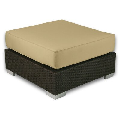 Signature Ottoman with Cushion Fabric: Dijon