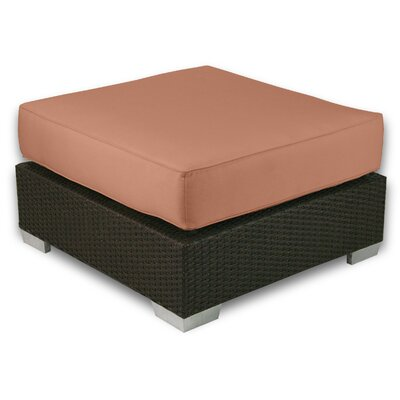 Signature Ottoman with Cushion Fabric: Cayenne