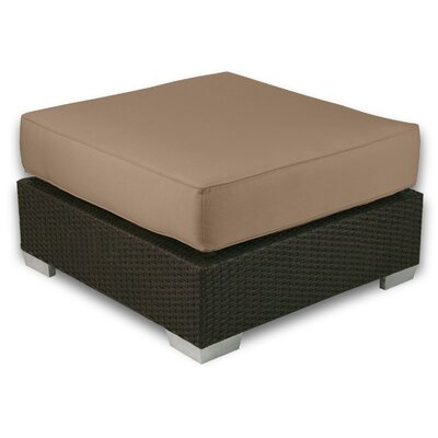 Signature Ottoman with Cushion Fabric: Sierra
