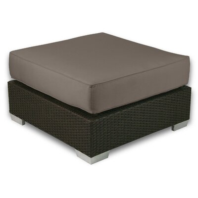 Signature Ottoman with Cushion Fabric: Coffee