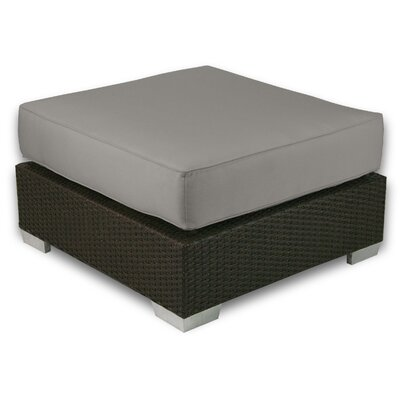 Signature Ottoman with Cushion Fabric: Graphite