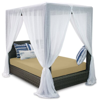 Palisades Queen Canopy Bed with Cushions Fabric: Dijon