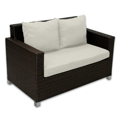 Skye Venice Loveseat with Cushions Fabric: Eggshell