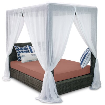 Palisades Queen Canopy Bed with Cushions Fabric: Grenadine