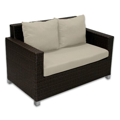 Skye Venice Loveseat with Cushions Fabric: Sand