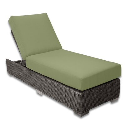 Palisades Chaise Lounge Fabric Color: Cilantro