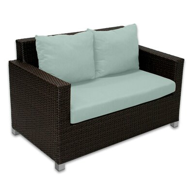 Skye Venice Loveseat with Cushions Fabric: Mist