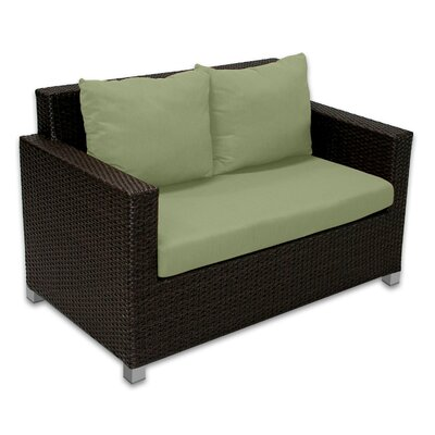 Skye Venice Loveseat with Cushions Fabric: Cilantro