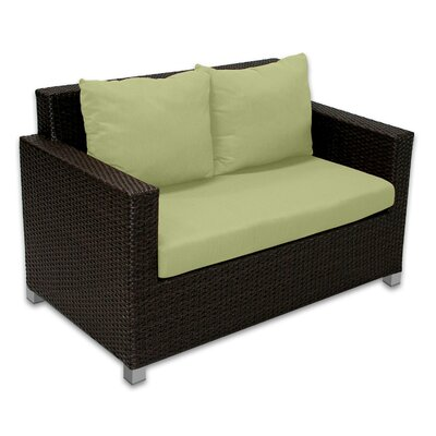 Skye Venice Loveseat with Cushions Fabric: Kiwi