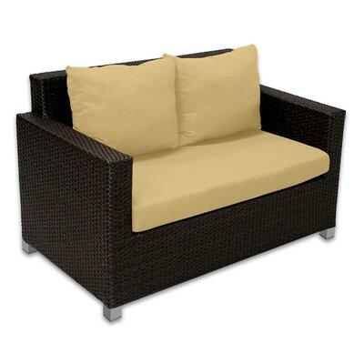 Skye Venice Loveseat with Cushions Fabric: Daffodil