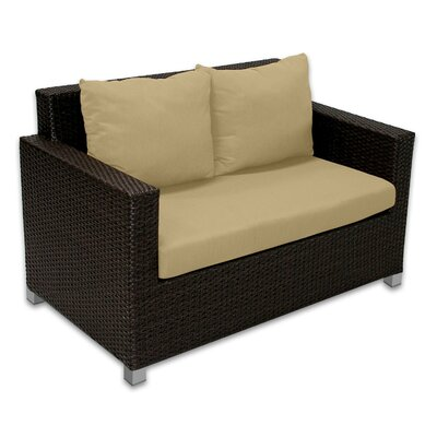 Skye Venice Loveseat with Cushions Fabric: Dijon