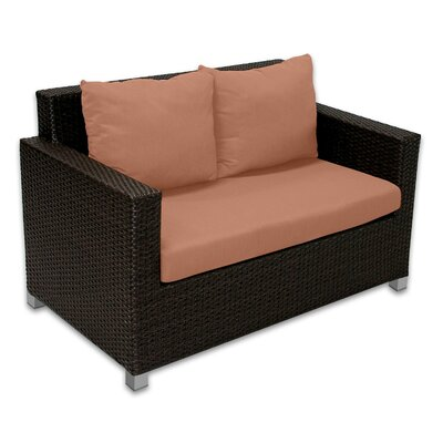 Skye Venice Loveseat with Cushions Fabric: Cayenne