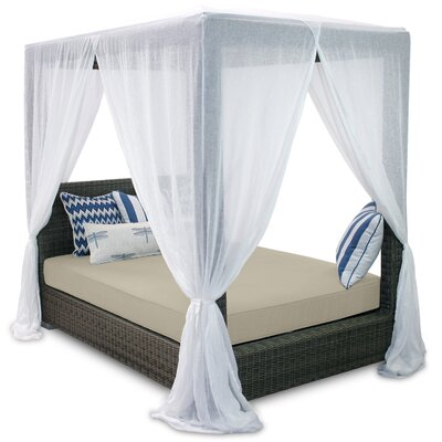 Palisades Queen Canopy Bed Cushions Fabric Sand - Product photo