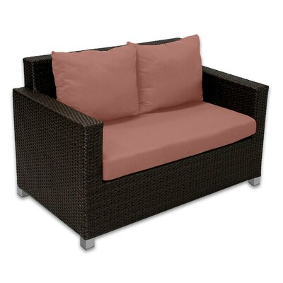 Skye Venice Loveseat with Cushions Fabric: Grenadine