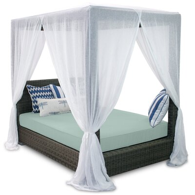 Palisades Queen Canopy Bed with Cushions Fabric: Mist