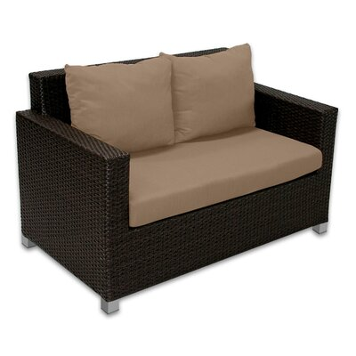 Skye Venice Loveseat with Cushions Fabric: Sierra
